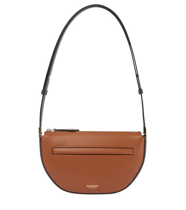 Burberry Women's Mini Olympia Leather Shoulder Bag In Warm Tan