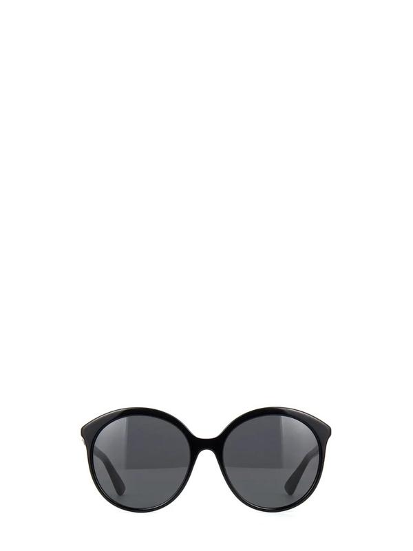 Gucci Eyewear Round Frame Sunglasses In Black
