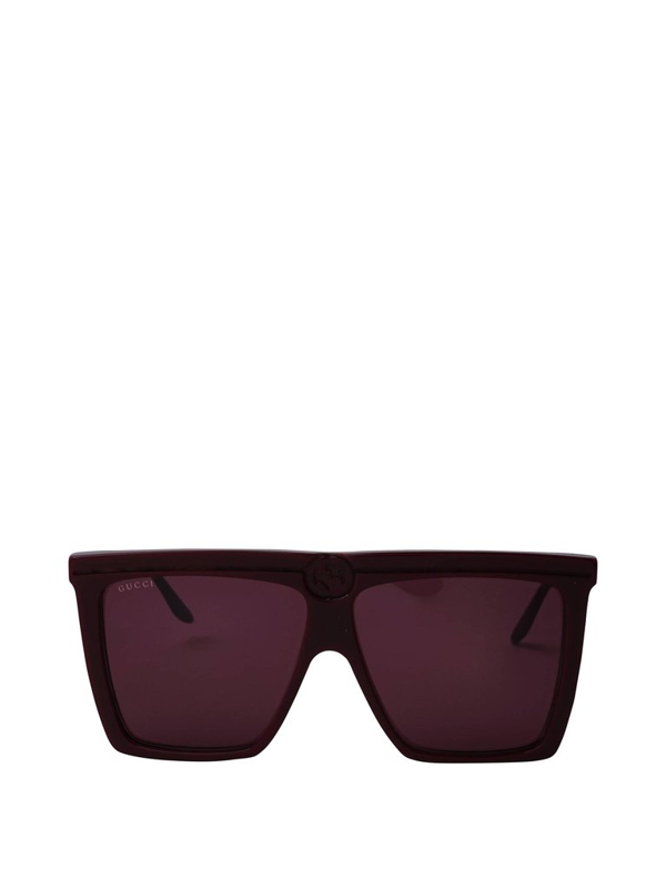 Gucci Eyewear Square Frame Sunglasses In Red