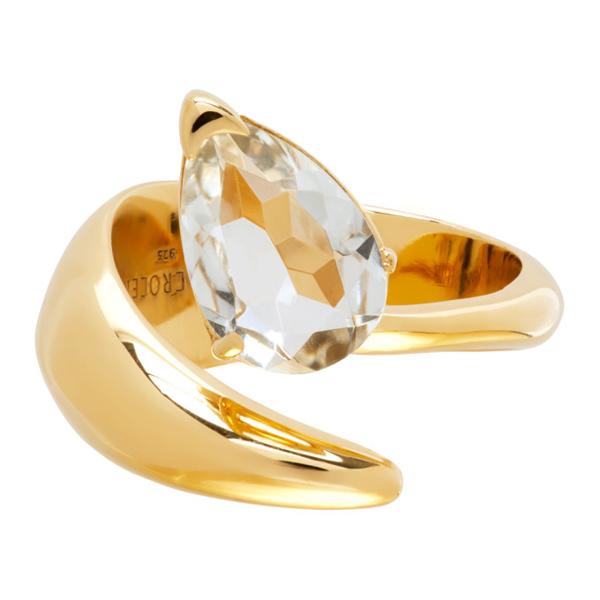 Alan Crocetti Gold & Green Amethyst Alien Ring