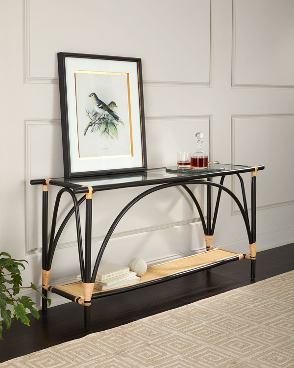 Jamie Young Xanadu Console Table In Black