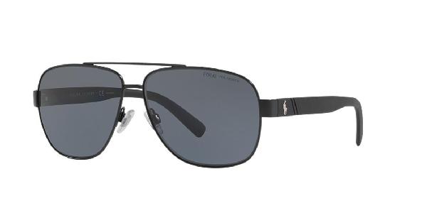 Polo Ralph Lauren Polarized Sunglasses, Ph3110 In Black/grey Polar