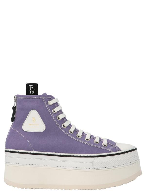 R13 Platform Baseball Lace In Purple