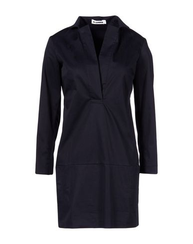 Jil Sander Short Dress In Dark Blue