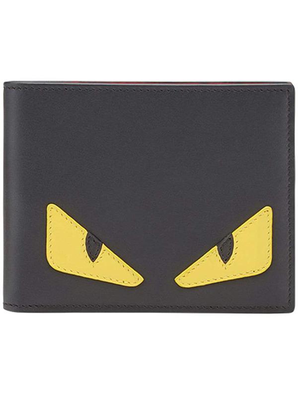 Fendi Monster Bag Bugs Bifold Wallet In Black