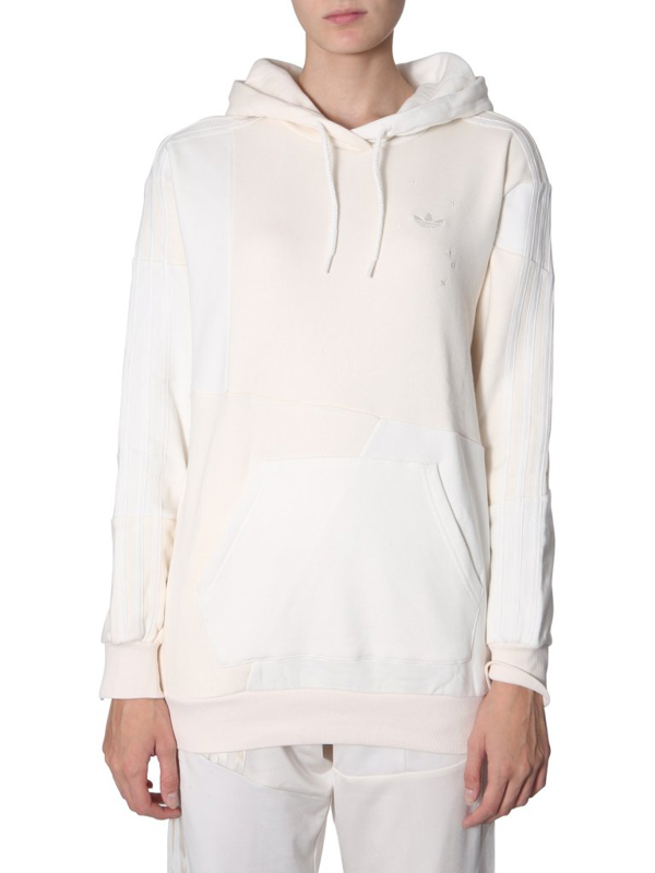 Adidas By Danielle Cathari Panelled Hoodie In White