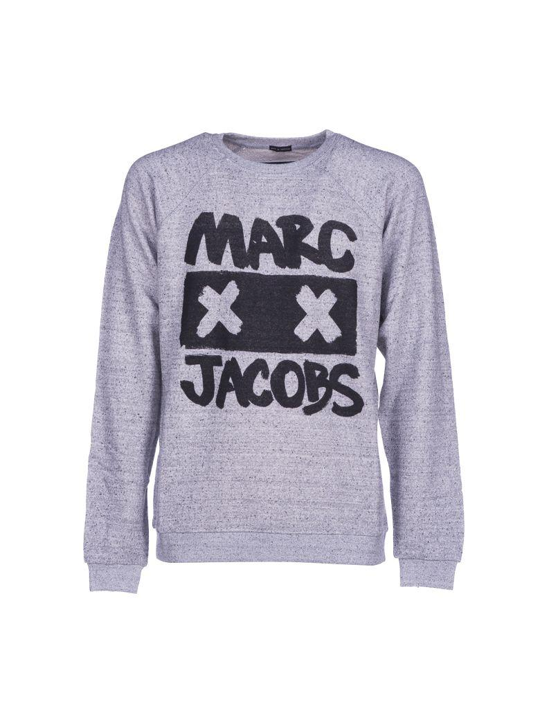 34445d86a98 Marc Jacobs Printed MÉLange Loopback Cotton And Silk-Blend Jersey  Sweatshirt In Gray
