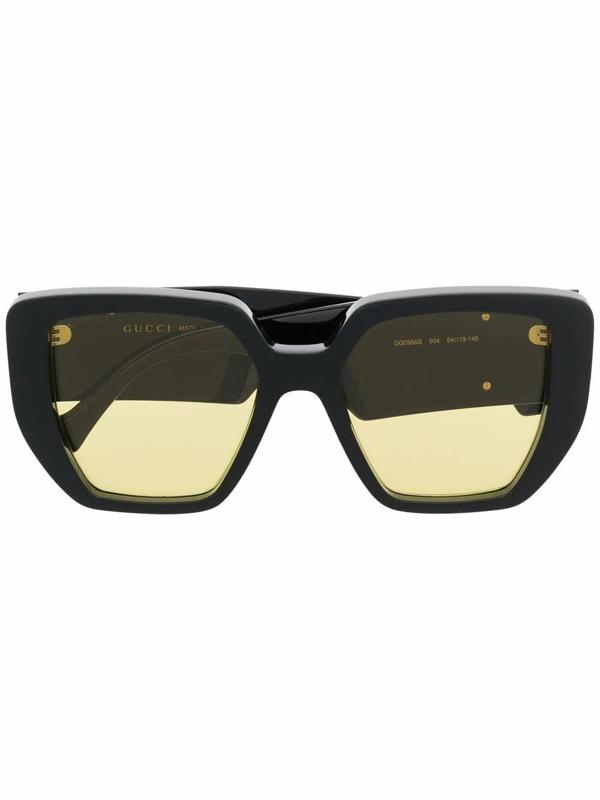 Gucci Women's Gg0956s004 Black Acetate Sunglasses