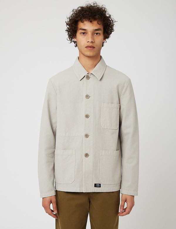 Bhode Chore Jacket (cotton Twill) - Light Grey
