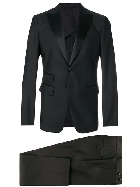 Dsquared2 Two Piece Dinner Suit In Black