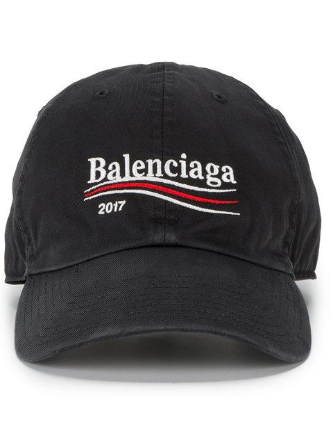 f4b2d8a0bd0c0 Balenciaga Embroidered Cotton Baseball Cap - Blue - One Siz