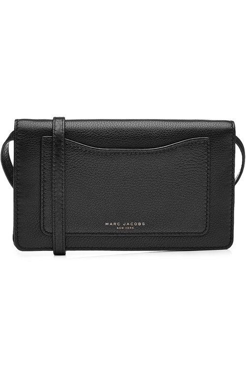 Marc Jacobs Leather Shoulder Bag In Black