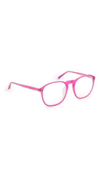 Linda Farrow Luxe X Matthew Williamson Oversized Glasses In Matt Pink/optical