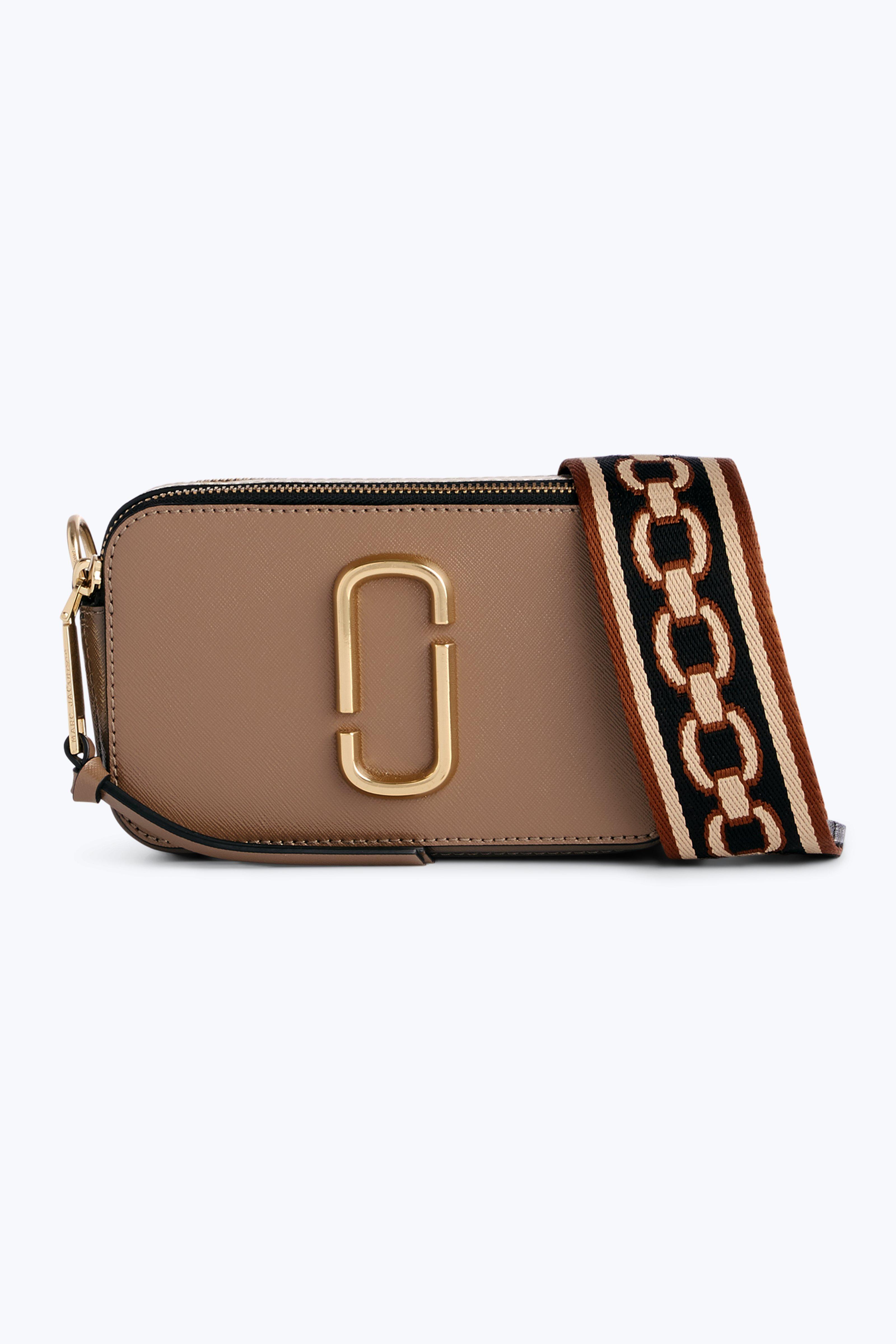9077fd397973 Marc Jacobs Snapshot Colour-Block Leather Shoulder Bag In Grey ...