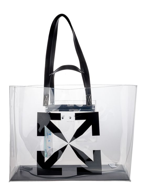 Off-white Off White Large Arrow Tote Bag In Transparent