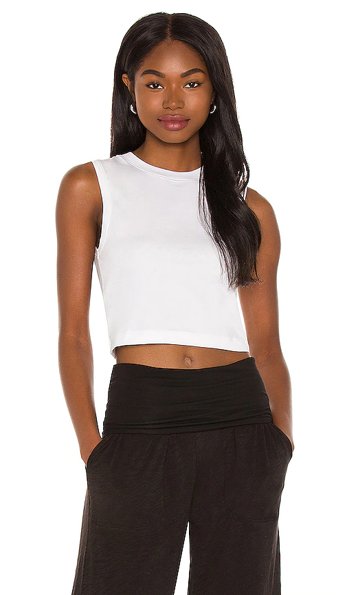 Atm Anthony Thomas Melillo Cropped Sleeveless Tee In 白色