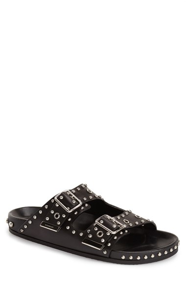 7aed9c598544 Givenchy Studded Double Band Slide Sandal (Men) In Black Leather ...
