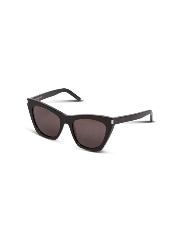 Saint Laurent Sl 214 Havana Grey Kate Sunglasses In Black