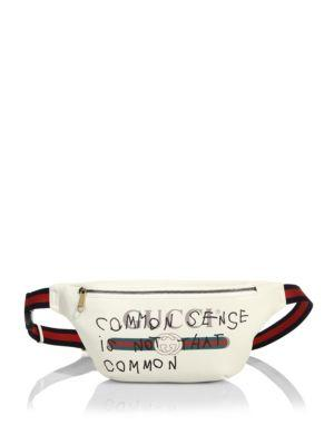 bbb8b486c04 Gucci Coco CapitáN Print Leather Belt Bag In White In Multi White ...