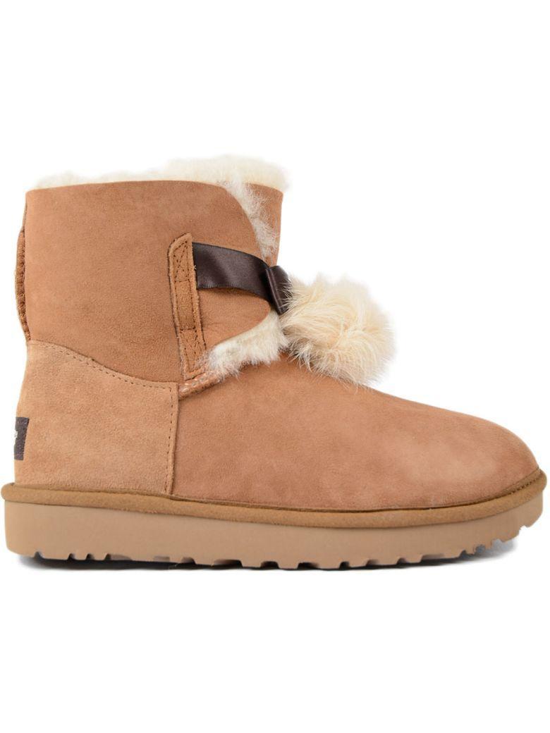 f6b45134009 Boots Mini Gita In Chestnut Shearling in Brown