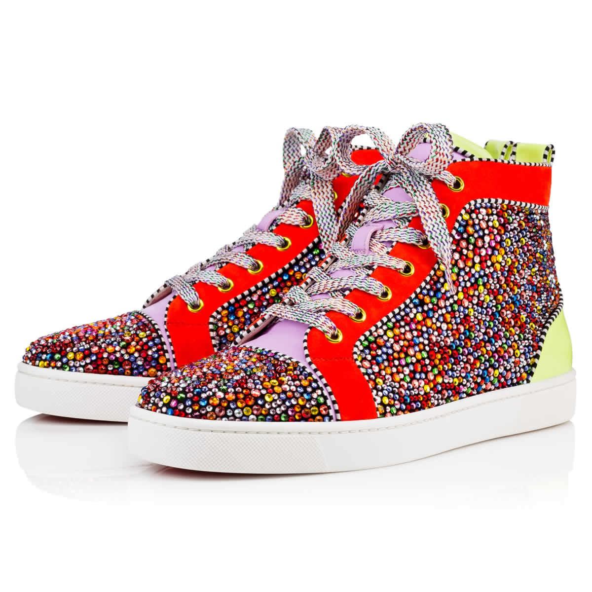 b39814e81f75 Christian Louboutin Louis Strass Men s Flat Version Multi Strass - Men  Shoes -
