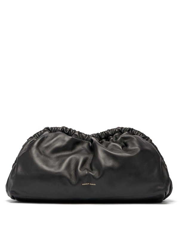 Mansur Gavriel Women's Cloud Leather Clutch In Black/ Flamma