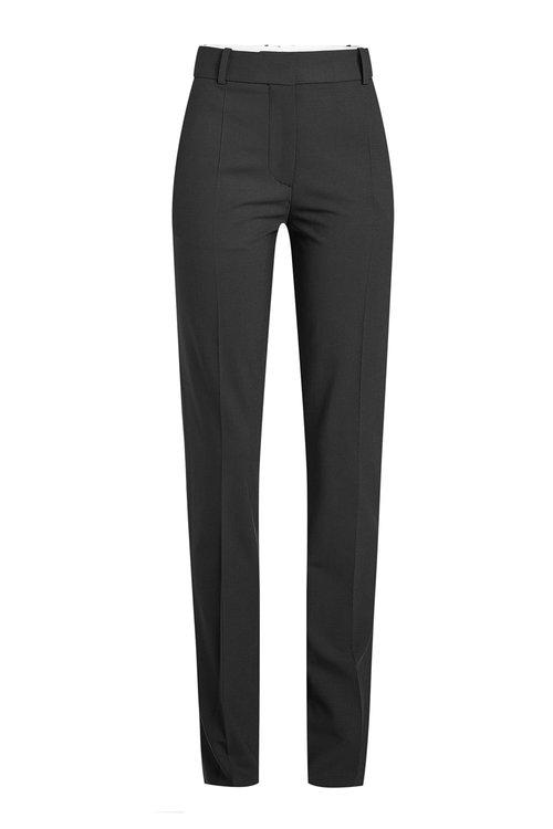 Victoria Beckham Virgin Wool Pants In Black