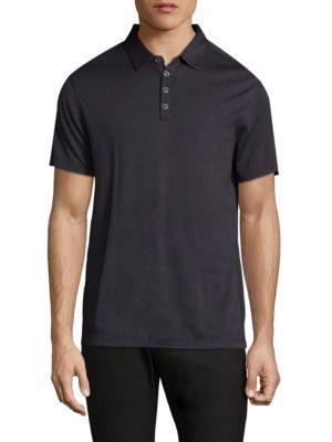 John Varvatos Hampton Slim Fit Polo Shirt In Dried Berry