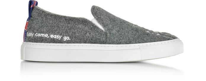 Joshua Sanders Gray London Slip On Sneakers