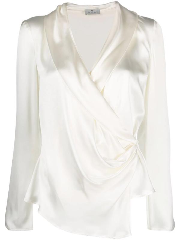Etro Silk Kimono Shirt In Neutrals