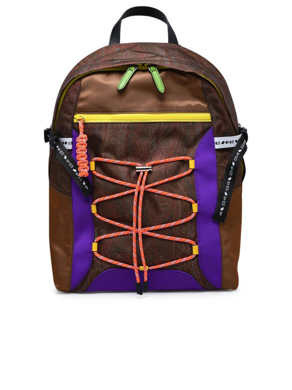 Etro Paisley Pattern Nylon Backpack In Multi