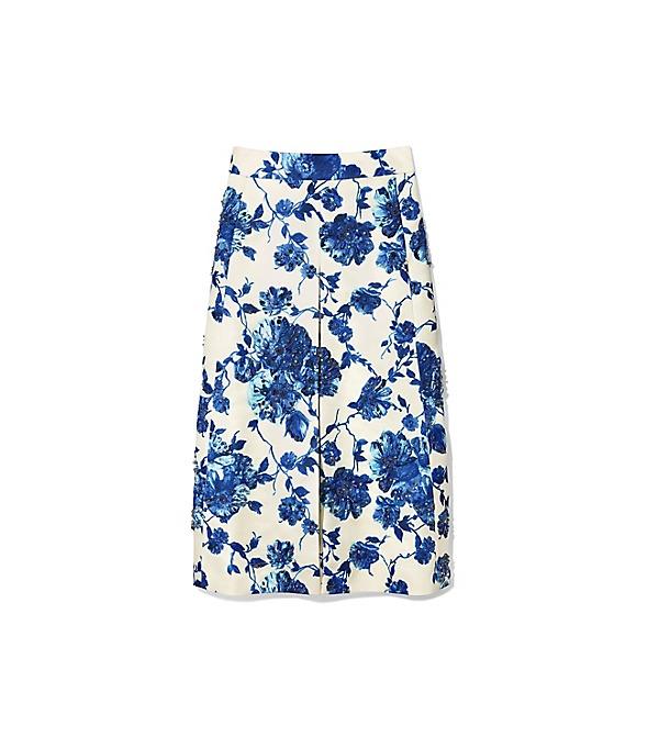 Tory Burch Kara Skirt In Rosemont Floral