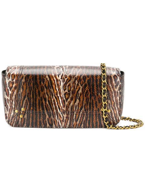 JÉrÔme Dreyfuss Leopard Shoulder Bag In Brown