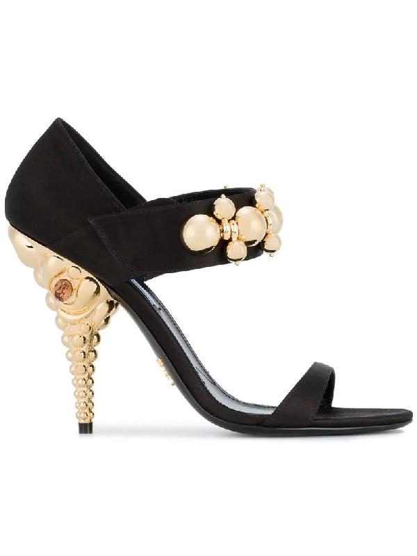 Prada High Heel Satin Shoes in black