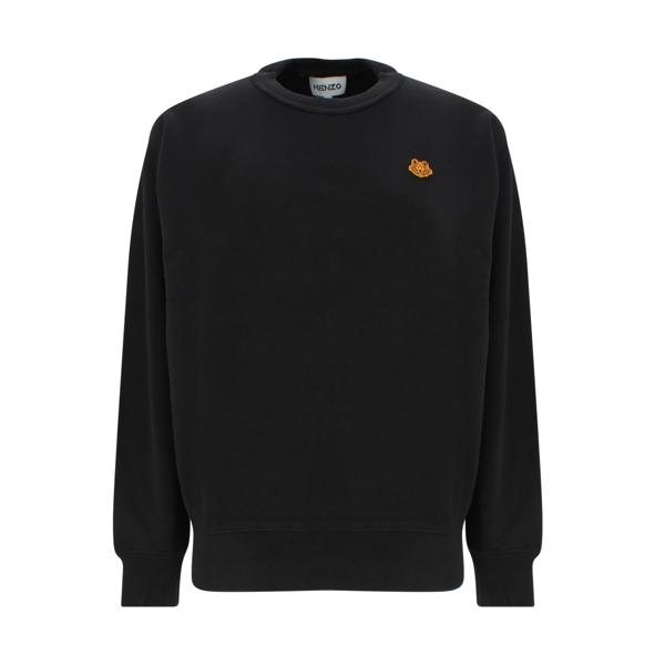 Kenzo Tiger Crest Sweatshirt In Nero
