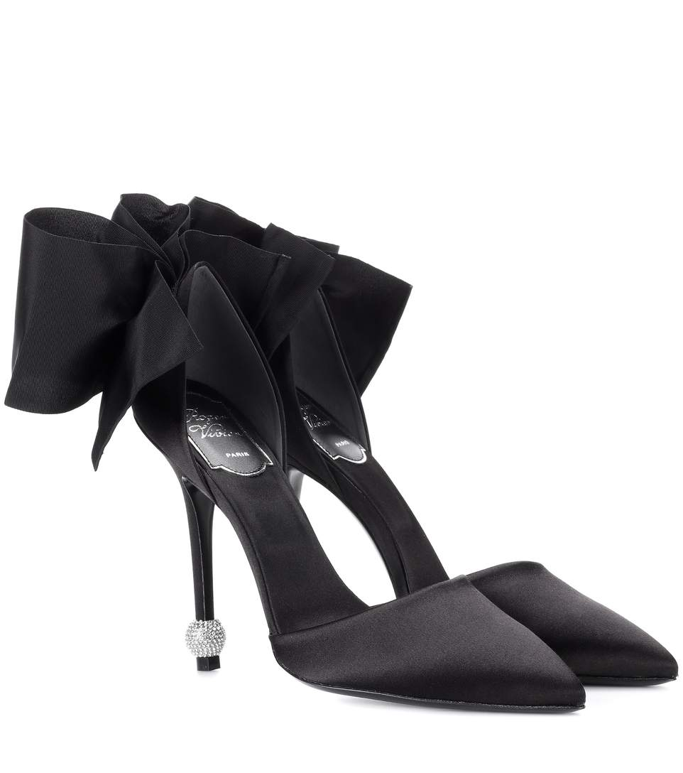 a10d6ae82002 Roger Vivier Dorsay Papillon Bow And Crystal-Embellished Satin Pumps In  Black