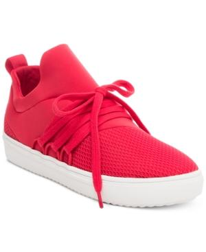 a0215085065 Steve Madden Women s Lancer Athletic Sneakers In Red