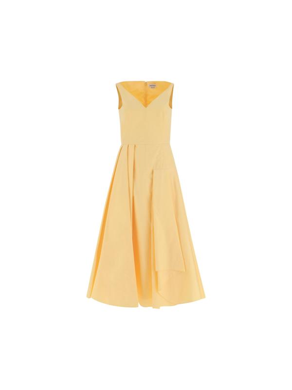 Alexander Mcqueen Women's 662745qaaay7005 Yellow Cotton Dress