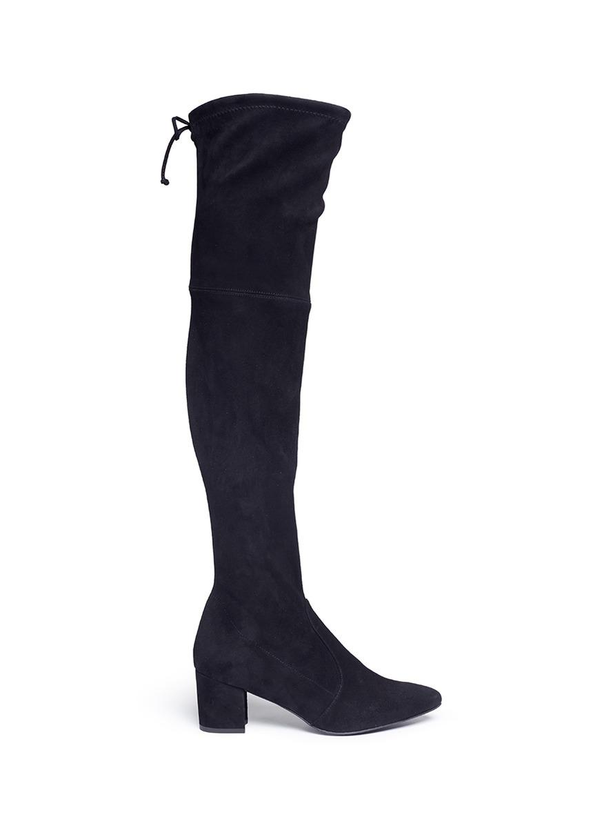 Stuart Weitzman 'Thigh Land' Stretch Suede Thigh High Boots