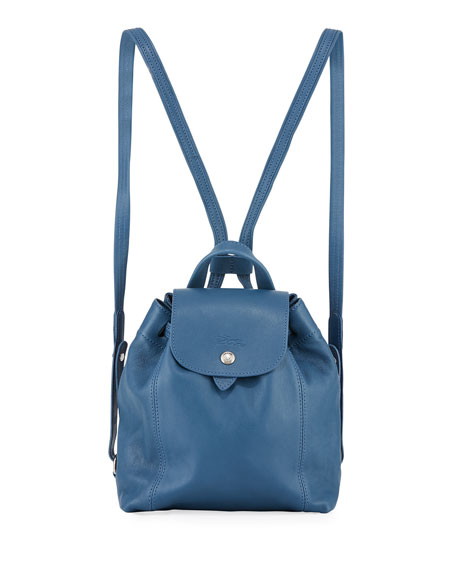 06b75914d09d Longchamp Extra Small Le Pliage Cuir Backpack - Blue