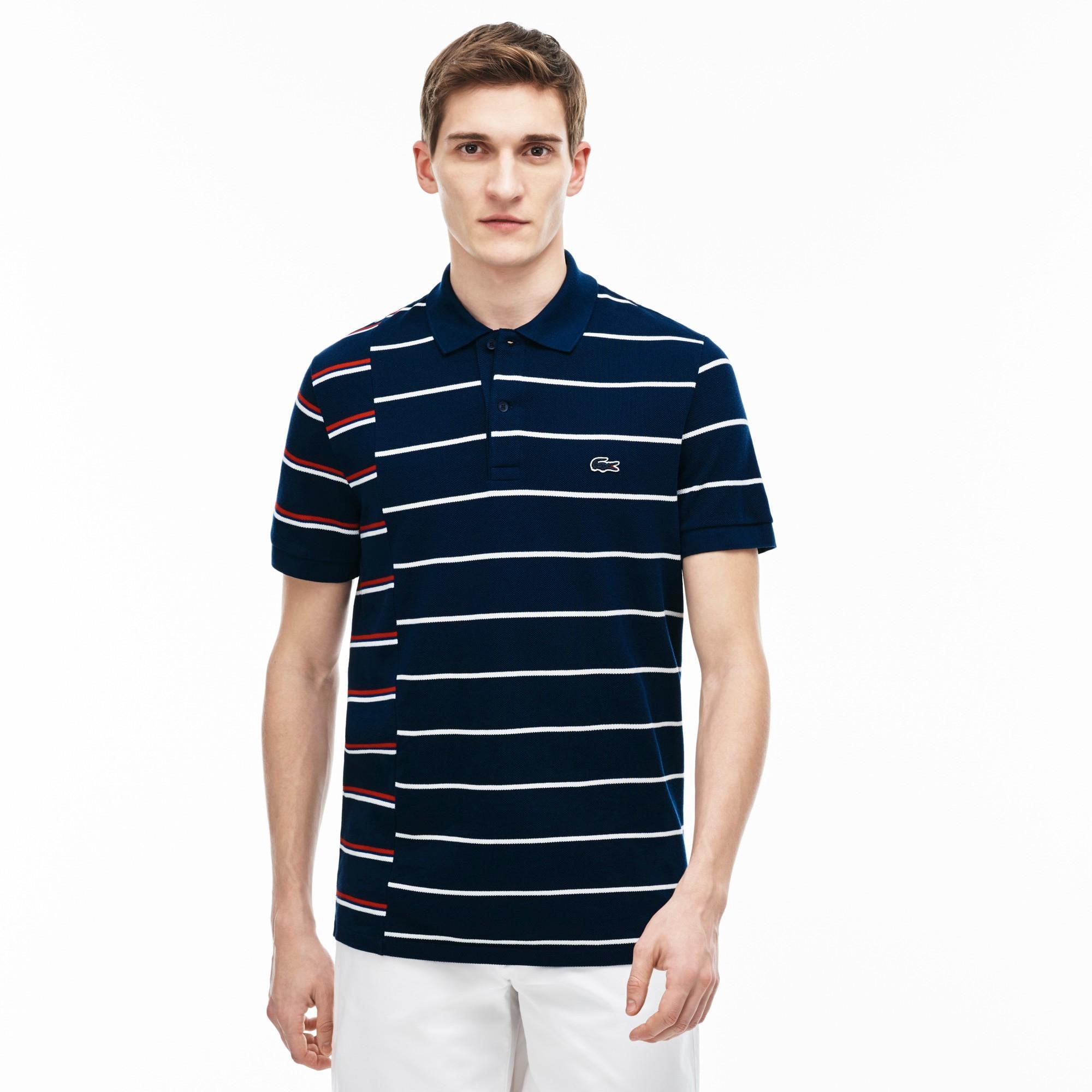 038d68328b9b1 Lacoste Men s Made In France Regular Fit Cotton PiquÉ Polo Shirt -  Ship White-