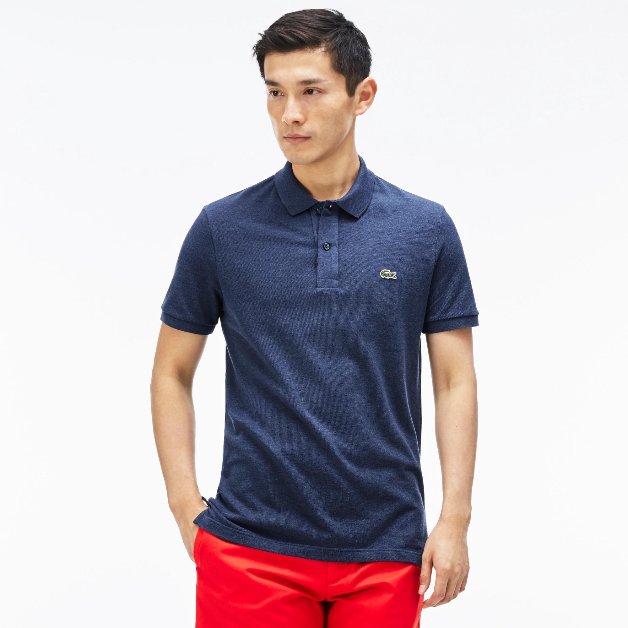 Men's Slim Fit Petit Piqué Polo Shirt - Philippines Blue Chine
