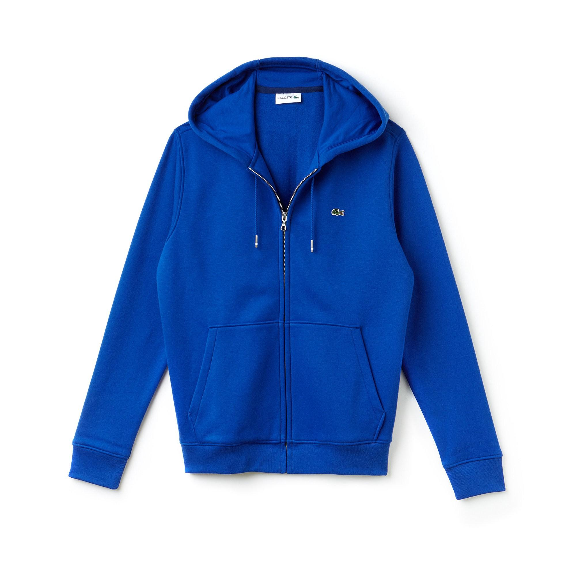 Zippered Hooded Fleece Brushed Men's Steamermethylene Sweatshirt TJ3FKcl1