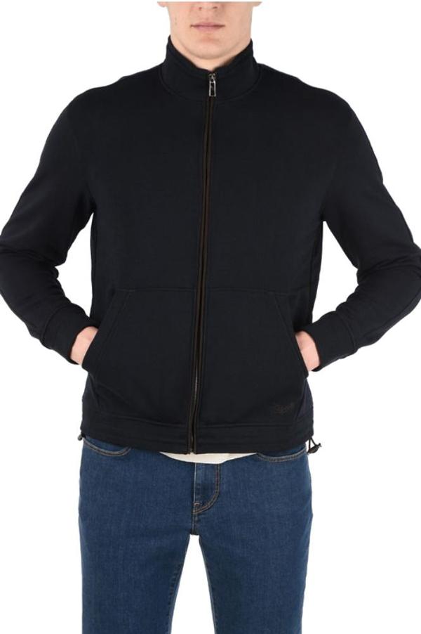 Ermenegildo Zegna Men's 809ru7550b09 Blue Cotton Sweatshirt