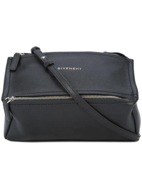 Givenchy Pandora Mini Leather Shoulder Bag In Black