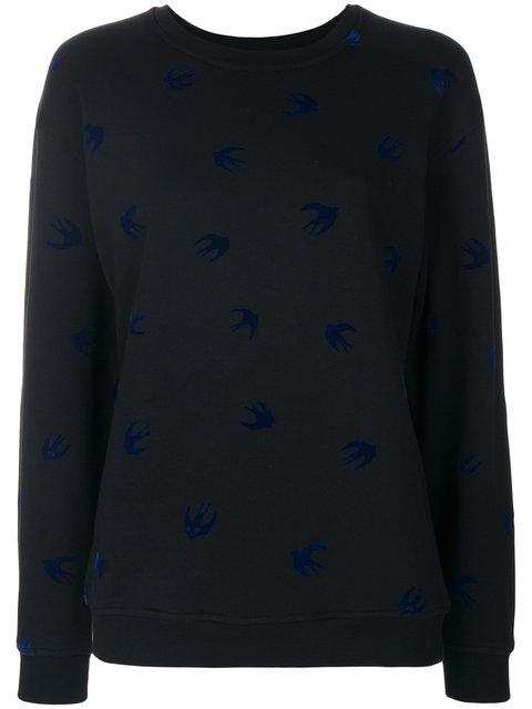 Mcq By Alexander Mcqueen Mcq Alexander Mcqueen Swallow Sweatshirt In Black Carbon Navy