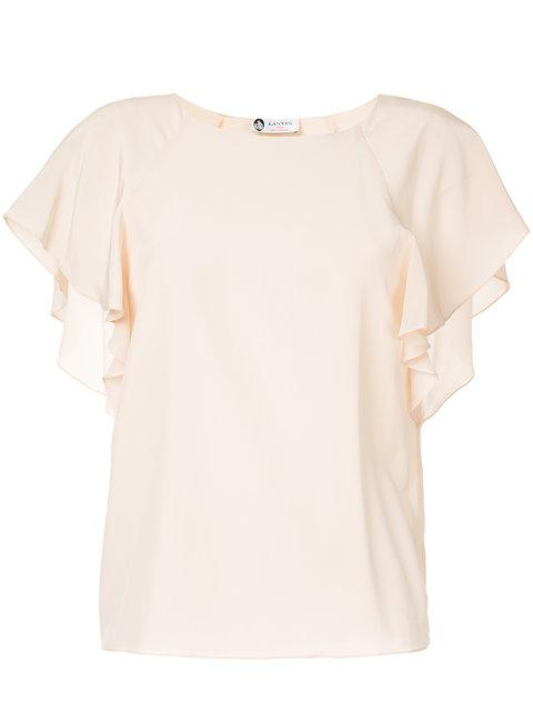 Lanvin Ruffle Sleeved Blouse
