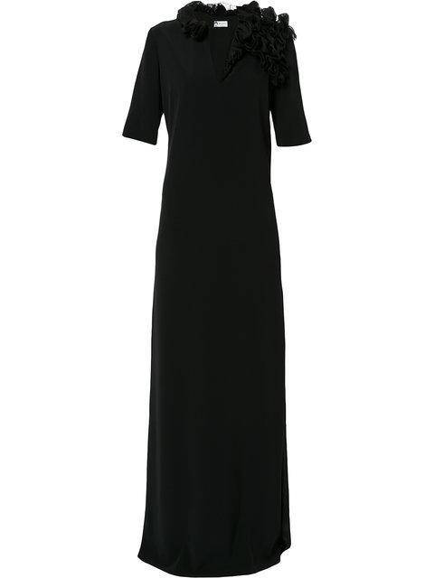 Lanvin Ruffle Applique Gown