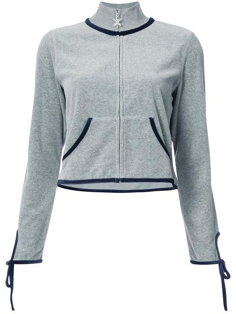 Opening Ceremony Torch Tie-cuff Track Jacket In Heather Grey
