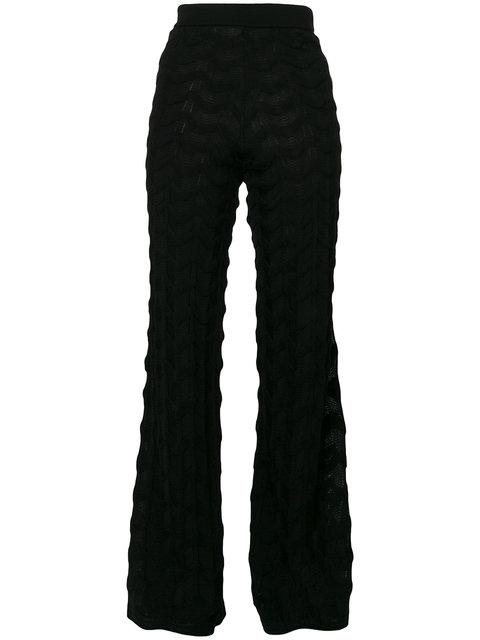 M Missoni Flared Trousers In Black